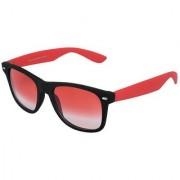 Silver Kartz Beach Sky Red Wayfarer Rectangular Sunglasses (Red)
