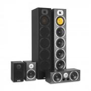 Auna V9B Juego de altavoces con sonido envolvente Set de 5 altavoces 440W RMS negro (JO2-V9B-BL)