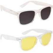 0303 FASHION HUB Retro Square, Retro Square Sunglasses(Black, Yellow)