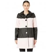 Kate Spade New York Color Block Coat BlackOrchid Pink