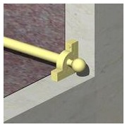 SMO13 - Sistem fixare mocheta, teava otel 12,7 mm + accesorii zinc