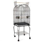 i.Pet Large Bird Cage with Perch - Black [PET-BIRDCAGE-A100-BK]