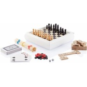 Set jocuri 5 in 1 sah, table, domino, mikado, carti