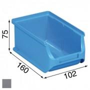 Allit Plastové boxy plus 2, 102 x 160 x 75 mm, šedé, 24 ks