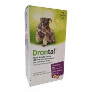 Bayer Animal Health Gmbh Bayer Drontal Multi Aroma Carne Integratore Alimentare Per Cani Fino A 10kg 24 Compresse
