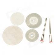 WLXY WL-6-1 6-en-1 carborundum + kits de hoja de sierra de corte de acero inoxidable-plata