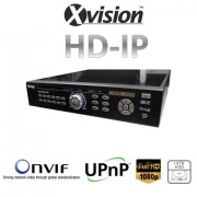 HD IP NVR rekordér pre 25/36 kamier 1080p/720p + 4TB HDD