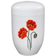 Design Urn Klaproos op Wit (4 liter)
