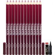 Mars Lip Eye Liner Pencil 12PCs With Free Laperla Kajal