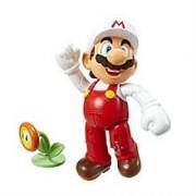 Figurina Nintendo Fire Mario With Flower Wave 3 10 CM