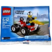 Lego City Exclusive Mini Figure Figure 30010 Fire Chief Bagged Block Toy (Parallel Import)