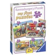 PRIMUL MEU PUZZLE UTILAJE AGRICOLE, 2/4/6/8 PIESE - RAVENSBURGER (RVSPC06954)
