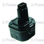 2-Power Verktygsbatteri Dewalt 9.6v 3.0Ah (DE9036)
