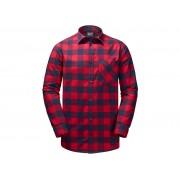 Jack Wolfskin Red River Shirt - Skjorta herr - Rutig Röd - Str. L