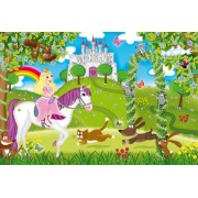 Puzzle Schmidt - Printesa in gradina castelului, 3x48 piese, include 1 poster (56225)