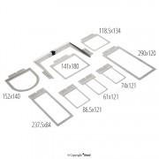 Sada rychloupínacích rámů 8 V 1 pro vyšívací stroj TEXI 1501