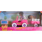 Barbie Kelly & Tommy Motorized Power Wheels Jeep & Dolls Aa Jeep Makes 3 Fun Sounds (1997)