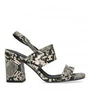 Sacha Snakeskin sandalen met hak