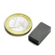 Magnet ferita bloc, 18x10x6 mm, putere 630 g