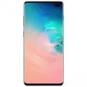 Смартфон Samsung Galaxy S10+ (SM-G975F), 6.4 инча (3040x1440), Dual SIM, LTE, 8GB/128GB памет, Cortex-A75, Cortex-A55, бял, SM-G975FZWDBGL