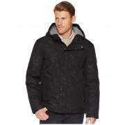 Cole Haan Oxford Rain Zip Front Jacket Black Camo