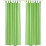vidaXL Genomskinlig gardin 140 x 175 cm 2-pack Apple Green