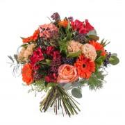 Ramo variado en tonos naranjas - Flores a Domicilio