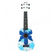 21 Pulgadas Ukulele Color De La Flor Para Principiantes - Azul