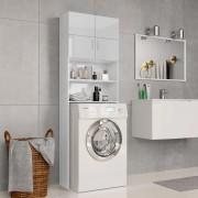 vidaXL Dulap mașina de spălat, alb lucios, 64 x 25,5 x 190 cm, PAL