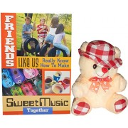 gifts for friend - Beige Teddy Bear With Hat,Great Friends Greeting Card