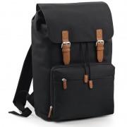 Bagbase Vintage schooltas rugzak/rugtas zwart 49 cm