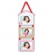 Zep Cadre multivues LEDA 3 photos 10x15 enfant rose