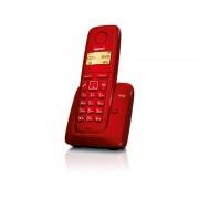 Безжичен DECT телефон Gigaset A120 - червен