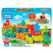Игрален комплект Мега Блокс, влакче с букви ABC, английска азбука, Mega Bloks, 175063