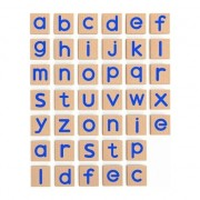 Set magnetic litere mici, Viga, lemn, 40 piese