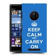 Husa Nokia Lumia 830 Silicon Gel Tpu Model Keep Calm Carry On