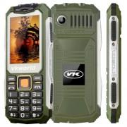 VKworld Stone V3S Quadruple Phone Anti-Low Temperature Daily Waterproof Shockproof Dustproof 2.4 inch 21 Keys Dual LED Light FM BT Dual SIM Network: 2G Russian Keyboard(Green)