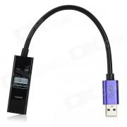 Adaptador USB Ethernet del Gigabit 3?0 UVC - negro + azul marino (21cm)