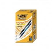 Soft Feel Retractable Ballpoint Pen, Black/blue, 1mm, Medium, 36/pack