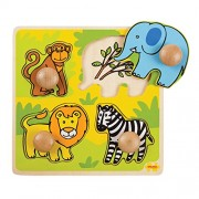 Bigjigs Toys BJ521 My First Peg Puzzle Safari