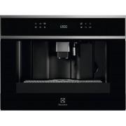 Espressor incorporabil automat Electrolux EBC65X, 15 bari, Touch control, 12 programe, Display LCD, Rezervor apa 1.8 l, Rasnita, Recipient lapte, Negru/Inox antiamprenta