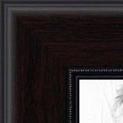 ArtToFrames 11x14 Inch Mahogany and Burgundy with Beaded Lip Picture Frame, WOMN9590-11x14
