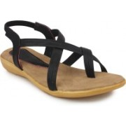 Ortan Girls Flats(Black)