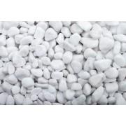 Baunox Zierkiese / Kieselsteine - Schneeweiss getrommelt - 25-40 mm - 500kg (BigBag)