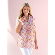 m. collection Blouse m. collection Wit::Pink::Groen