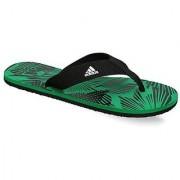 Adidas Men's Black Green Flip Flops
