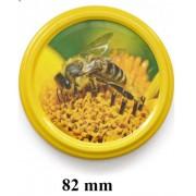 Napraforgó virágon méh 82mm