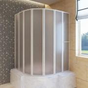 vidaXL Shower Bath Screen Wall 140 x 168 cm 7 Panels Foldable with Towel Rack