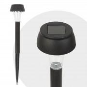 Lampa solara LED, alb rece - negru - Material plastic