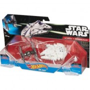 Jucarie Tie Fighter vs. Millennium Falcon Star Wars, plastic, Multicolor